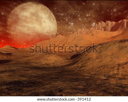 3D generated galactic scene