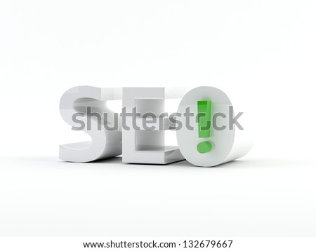 3D generated image. SEO - Search engine optimization