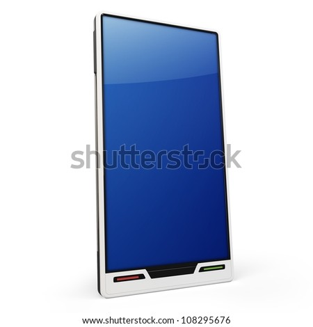 3d generic smartphone on white background