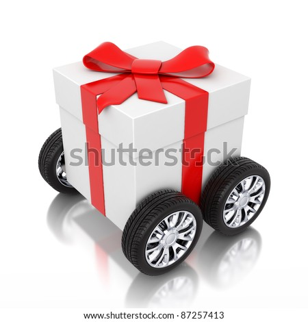 3d gift on wheels