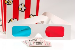 3D Glasses WIth Tickets and Popcorn