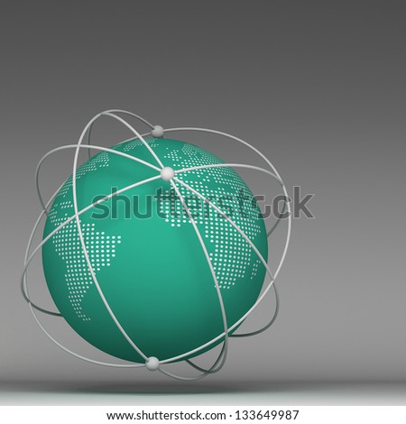 3d globe connections network design