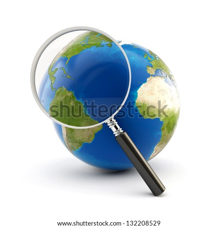 3d globe icon collection - search. Elements of this image furnished by NASA