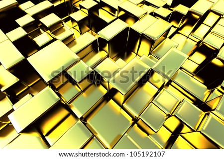 3d gold bar abstract graphic background