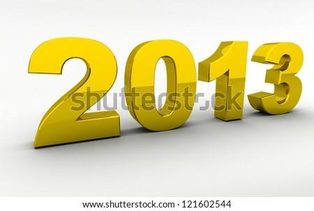 3d golden new year 2013