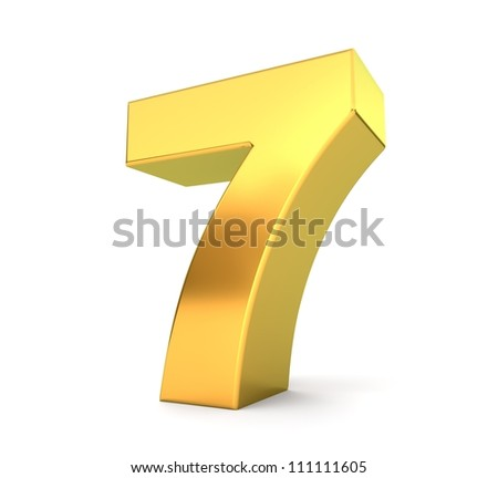 3d golden number collection - 7
