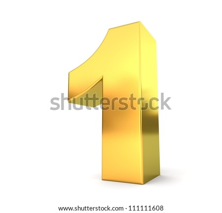 3d golden number collection - 1