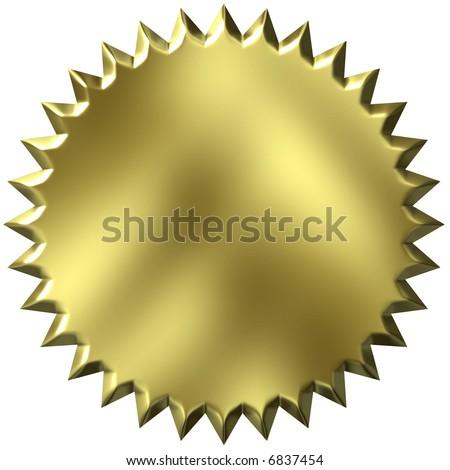 3D Golden Seal