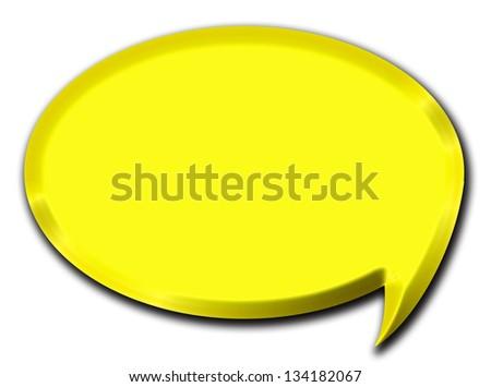 3d golden speech bubble illustration #134182067