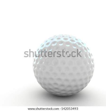 3d Golf ball isolated