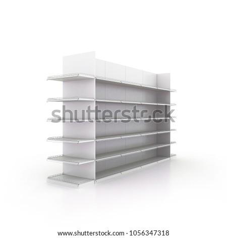 3D Gondola Shelf end cap