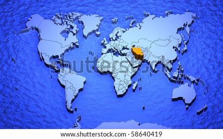 world map uk. uk 3d world map