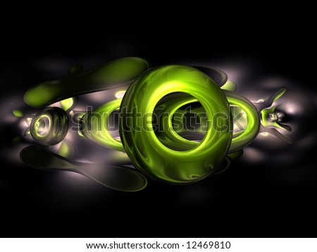 stock photo : 3D Green Abstract Render Black Dark Grey Background Wallpaper