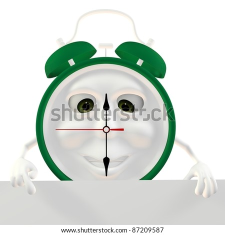 3d green Alarm clock