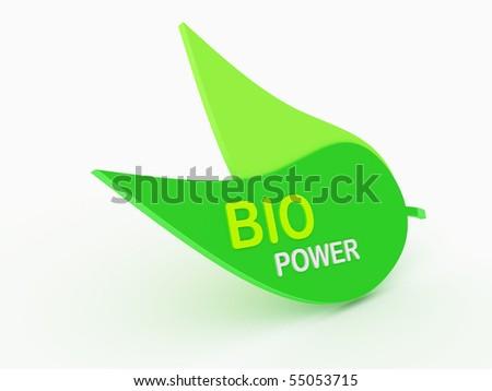3d green leaf
