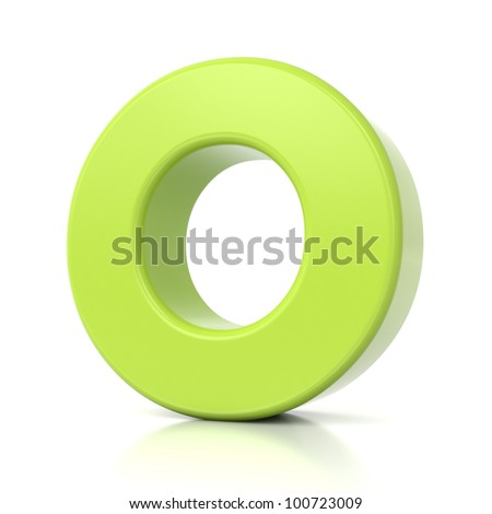 3D green letter collection - O - stock photo
