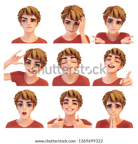 3D Handsome Male Character Expression
