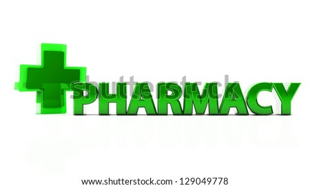 3d health   icon with pharmacy