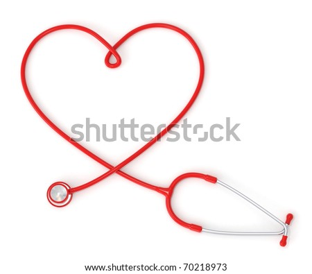 3D heart-shaped stethoscope