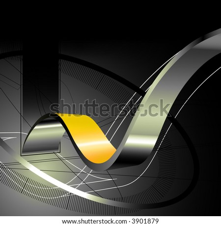 3d hi-tech abstract background - stock photo