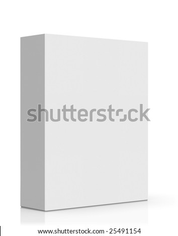 3d high quality rendered blank software box