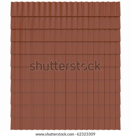 3d high resolution render image of roof tile