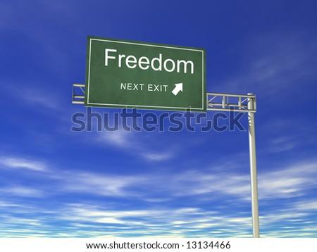 3D Hightway Billboard: Freedom