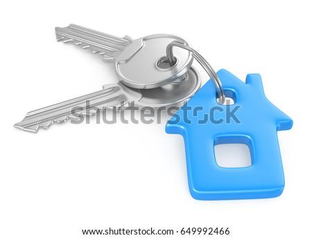 3D. House, Key, House Key.