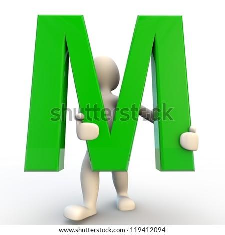 Green Letter m Logo Holding Green Letter m