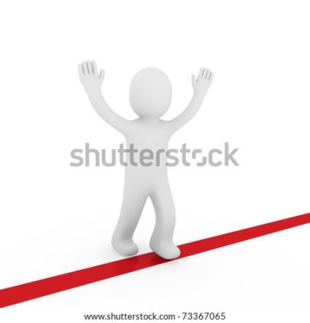 3d human run winner target success first red
