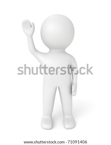 3d human salute