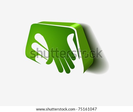 3d icon of shaking hands design.