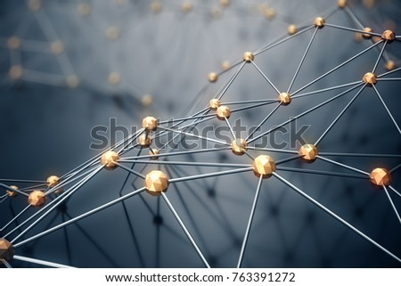 3D Illustration abstract background, connection and lines of technology. Abstract background network and cloud computing. - Shutterstock ID 763391272