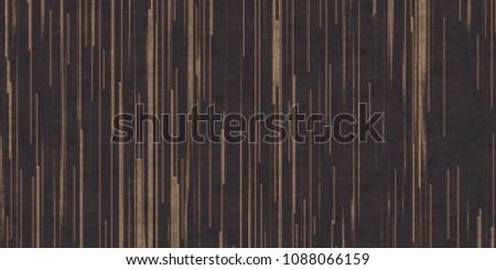 3d illustration. Abstract background of gold lines, different shapes and different directions isolated on a black relief background with gilding. imitation movement of space and shapes, render