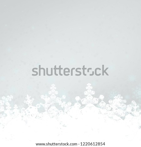 2d illustration. Abstract snowflakes. Christmas time decorative texture. Colorful background. Decorative paper card image. #1220612854