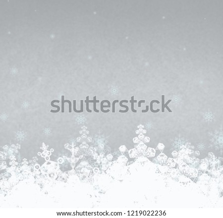 2d illustration. Abstract snowflakes on colorful background. Christmas time decorative texture. #1219022236