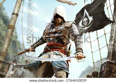 3D Illustration Assassins Creed Warriors_Men warrior