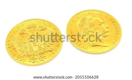 3D illustration Austrian 3.5g Gram One Ducat Gold Coin 986.0 - UK Bullion Photo stock ©