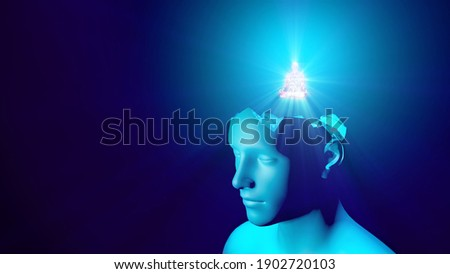 3d illustration awareness of the essence of thinking Foto stock ©