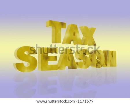 3D illustration, background representing the agony of the tax season. Copy space, clipping path.