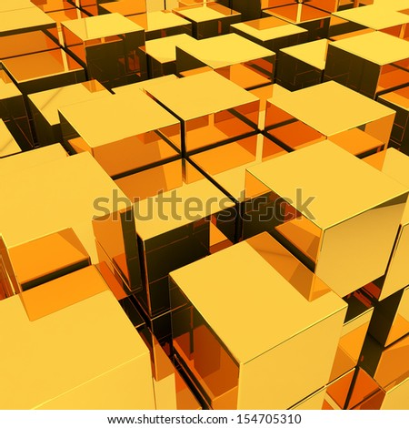 3d illustration basic geometric shapes - stock photo