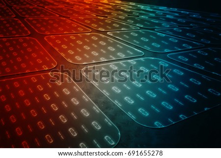 2d illustration Binary code