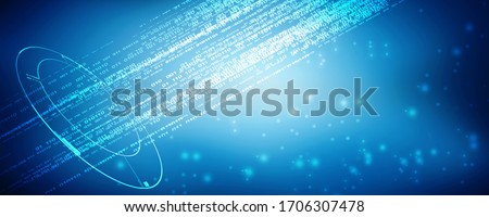 2D illustration binary coding abstract background