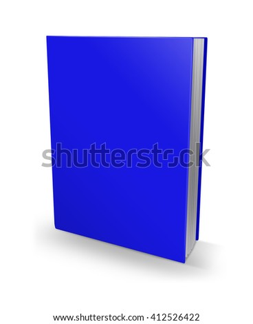 3d illustration blank square hardcover album template on white