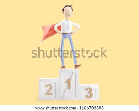 3d illustration Businessman Jimmy is a leader