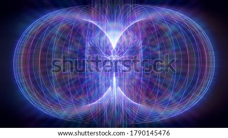 3D illustration colored rays torsion field of an angel Сток-фото ©