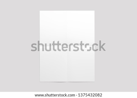 3D illustration corporate stationery blank mockup. Blank white textured isolate