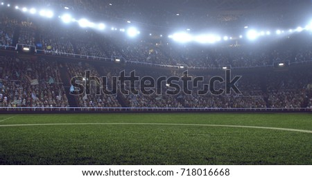 3D illustration/3D rendering of a sport stadium background made without existing references #718016668