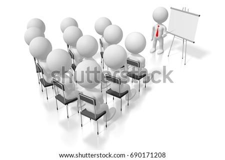 3D illustration/ 3D rendering - seminar/ training/ case study/ conference concept