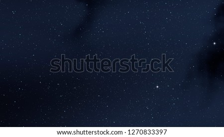 2d illustration. Deep interstellar space background. Stars,   planets and moons and comets. Various science fiction creative   backdrops. Space art.